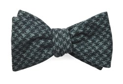 Bow Ties - Woolf Houndstooth - Hunter Green