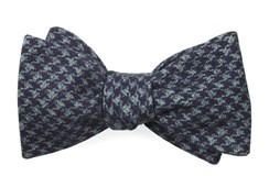 Bow Ties - Woolf Houndstooth - Eggplant