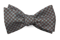 Bow Ties - Woolf Houndstooth - Cognac