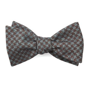 woolf houndstooth cognac bow ties