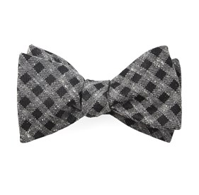 Black Cement Checks bow ties