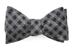 Bow Ties - Cement Checks - Navy