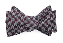 Bow Ties - Houndstooth Thrill - Burgundy