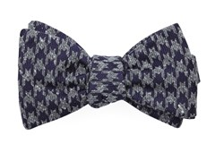Bow Ties - Houndstooth Thrill - Eggplant