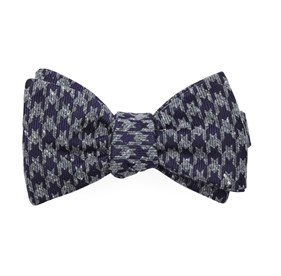 Eggplant Houndstooth Thrill bow ties