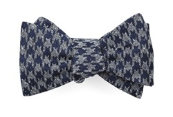 Bow Ties - Houndstooth Thrill - Navy