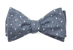 Bow Ties - Knotted Dots - Serene Blue
