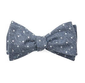 Serene Blue Knotted Dots bow ties