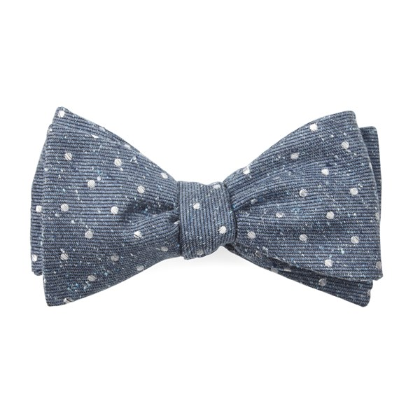 Serene Blue Knotted Dots Bow Tie