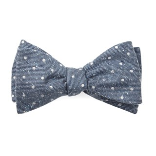 knotted dots serene blue bow ties