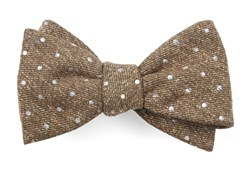 Bow Ties - Knotted Dots - Brown