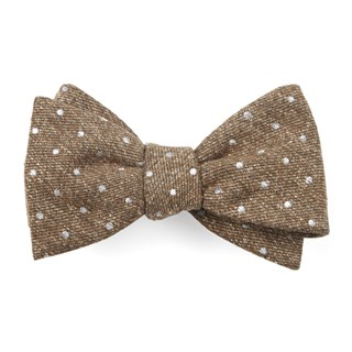 knotted dots brown bow ties