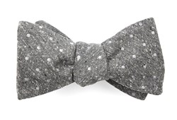 Bow Ties - Knotted Dots - Grey