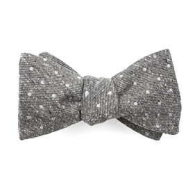Knotted Dots Grey Bow Ties