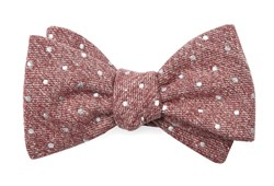 Bow Ties - Knotted Dots - Raspberry