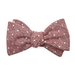 knotted dots raspberry bow ties