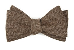 Bow Ties - Threaded Zig-zag - Brown