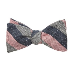 Varios Stripe Pink Bow Ties