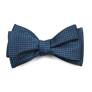 check mates teal bow ties