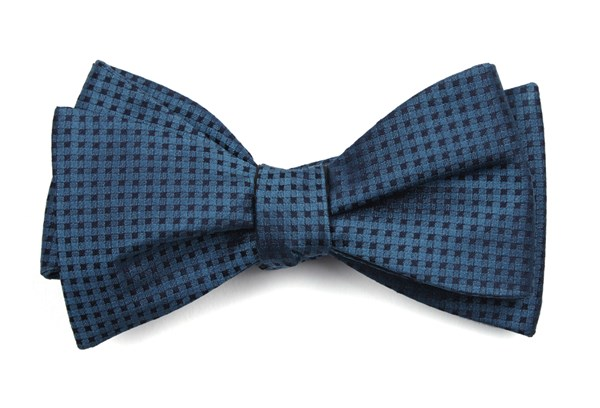 Check Mates Teal Bow Tie