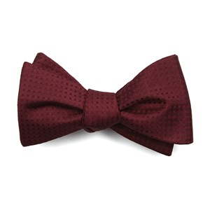 check mates burgundy bow ties