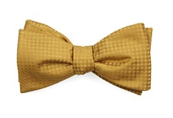 Bow Ties - Check Mates - Mustard