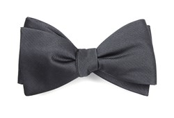 Bow Ties - Grosgrain Solid - Charcoal