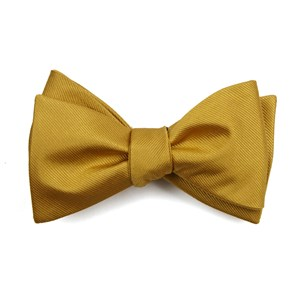 grosgrain solid gold bow ties