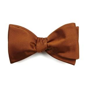 grosgrain solid burnt orange bow ties