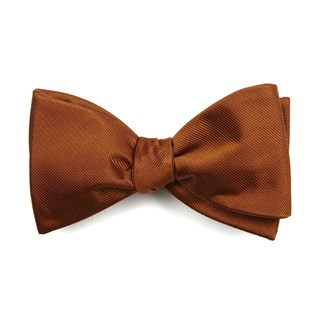 Grosgrain Solid Burnt Orange Bow Tie