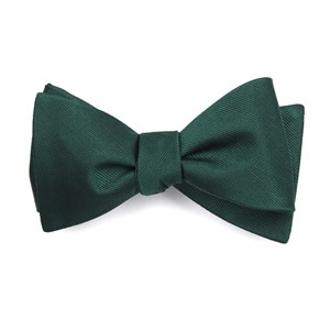 grosgrain solid hunter bow ties