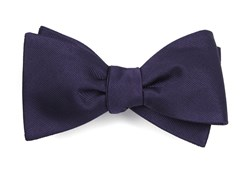 Bow Ties - Grosgrain Solid - Deep Eggplant