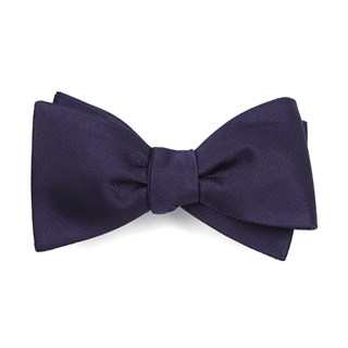 grosgrain solid deep eggplant bow ties