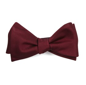 Grosgrain Solid Burgundy Bow Ties