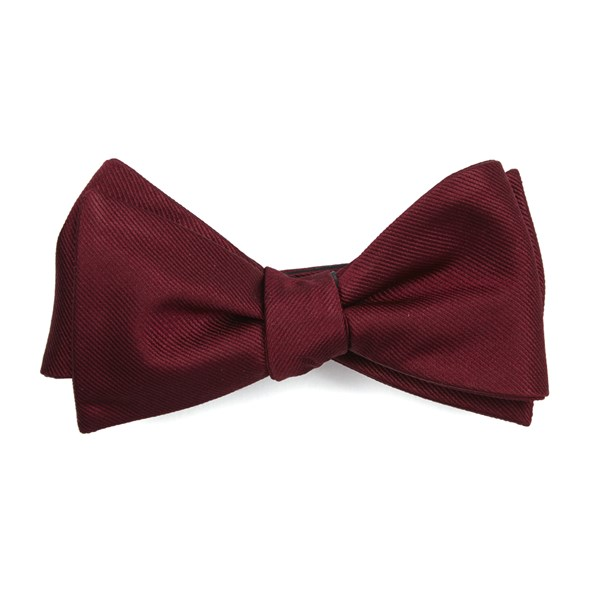 Burgundy Grosgrain Solid Bow Tie