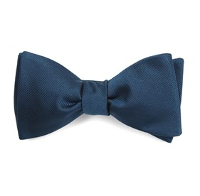 Teal Grosgrain Solid boys bow ties