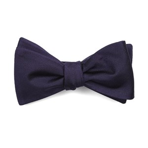 herringbone vow eggplant bow ties