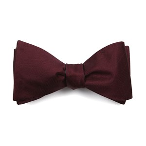 herringbone vow burgundy bow ties