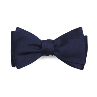 herringbone vow navy bow ties