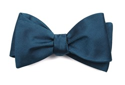 Bow Ties - Herringbone Vow - Teal