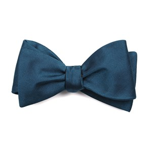 herringbone vow teal bow ties