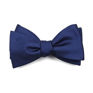herringbone vow classic blue bow ties