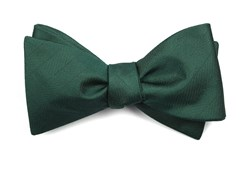 Bow Ties - Herringbone Vow - Hunter Green
