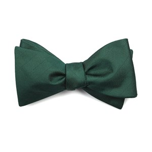 herringbone vow hunter green boys bow ties