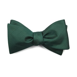Herringbone Vow Hunter Green Bow Tie