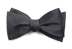 Bow Ties - Herringbone Vow - Charcoal