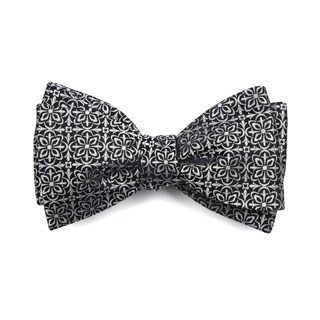 opulent black bow ties