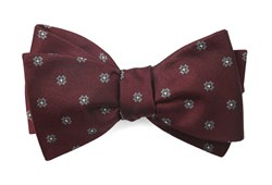 Bow Ties - Floral Span - Burgundy