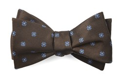 Bow Ties - Floral Span - Chocolate Brown