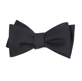 Black Sound Wave Herringbone bow ties